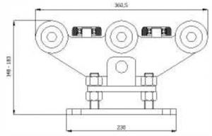 VK10FS - 80  Vozík kyvný stavitelný I